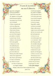 Don Giulio 70° - Poesia di Franco