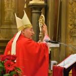 2015 Solennità protomartiti Vescovo Vecchi illustra il significato del pastorale